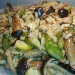 Risotto d'autunno (funghi, noci, castagne e asparagi)