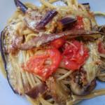 Linguine melanzane e pecorino