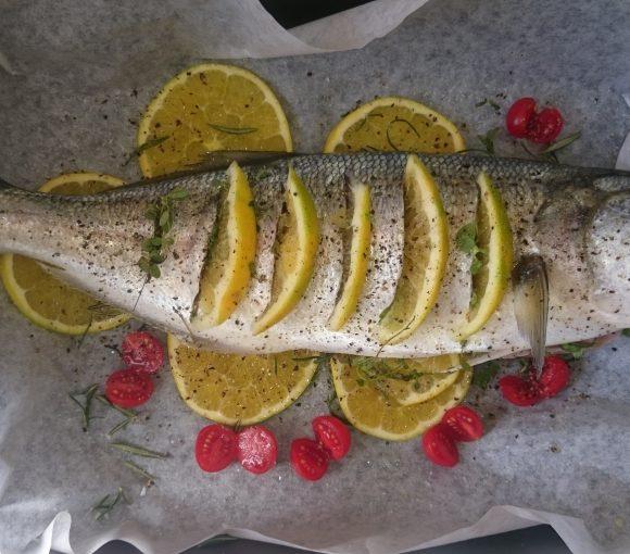 pesce serra agli agrumi
