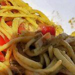 Linguine alla Carlofortina (pesto tonno e pomodorini)
